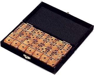 Domino Double 6 Gold Marbleized Tiles Jumbo Tournament Size