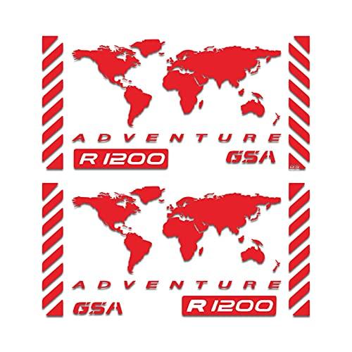 Etiqueta de la Caja de la Motocicleta Pegatina de Aluminio de la Motocicleta Caja de la Caja Lateral de la Caja de la Etiqueta Reflectante del Kit de calcomanía para R1200GSA R1200 GSA R 1200