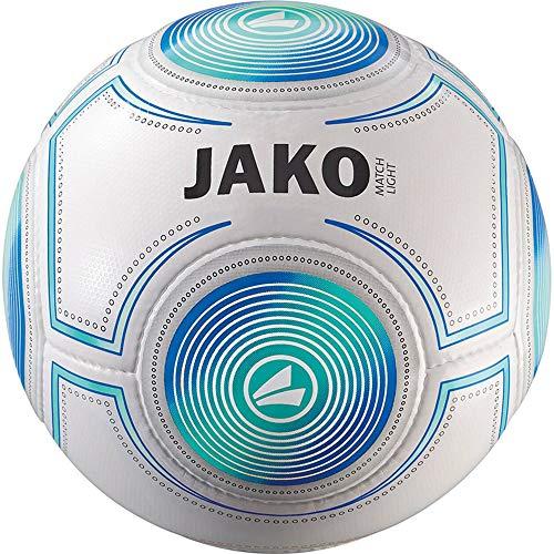 JAKO Herren Lightball Match, weiß/Aqua blau-350g, 4