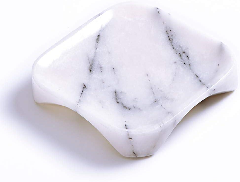 MAYROOM Natural Marble Soap Dish Soap Holder Box Saver Container