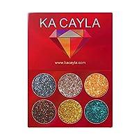 アイシャドウ パレット 化粧品セット 5種類 6色 Akane KA CAYLA 防水 持ち便利 おしゃれ アイシャドウパレット(6色) (Multicolor 4)