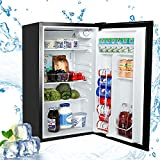 Aneken Compact Refrigerator, 3.2 Cu. Ft. Single Door Mini Fridge with Adjustable Temperature Control for Dorm, Office, Garage, Camper - Black