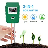 9. Bearbro Soil Moisture Meter,3-in-1 Soil pH Meter,Test Kit for Moisture,Great for Home and Garden, Lawn, Farm, Indoor & Outdoor Use