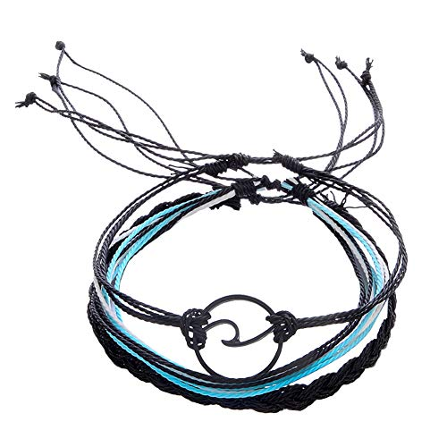 Mode Sommer Strand Welle Armband Frauen Boho handgemachte geflochtene Seil Armreif Set (2)