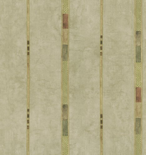 Brewster 426-6277 Kitchen and Bath Resource II Whimsey Geometric Stripe Wallpaper, 20.5-Inch by 396-Inch, Neutral