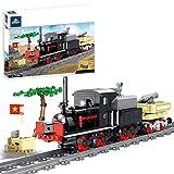 Fujinfeng City Tren Navidad Set, 379+Piezas Trenes Electricos Maquetas Trenes de Juguete, Tren Electrico Juguete, Compatible con Lego