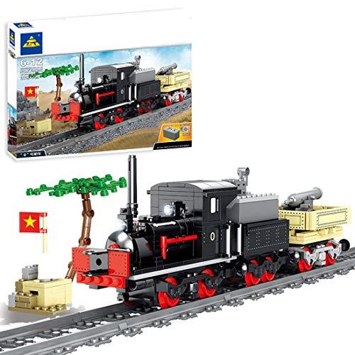 OATop 379 + Teile City Güterzug Baustein Modell mit Schienen, City Zug mit Motor, Musik und LED Beleuchtungsset...