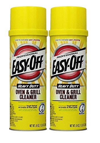 Easy Off Professional Oven & Grill Cleaner, 24 oz Can (2 Pack(24 oz))