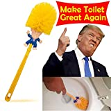 Winston Cronin Donald Trump Head Toilet Brush Cleaner Scrubber Funny Magic Trump Toilet Bowl Brush for Bathroom Deep Cleaning Make Toilet Great Again