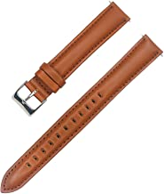 IVAPPON Extra Long Light Brown Genuine Leather Watchband,Great Replacement Strap for Big Wrist (88X140mm)