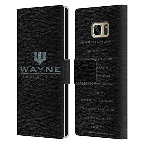 Head Case Designs Offizielle Batman DC Comics Wayne Industries Logo Dualitaet Leder Brieftaschen Huelle kompatibel mit Samsung Galaxy S7 Edge