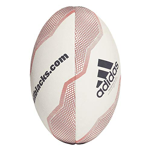 Adidas NZRU All Blacks Rugby Ball (5, white red)