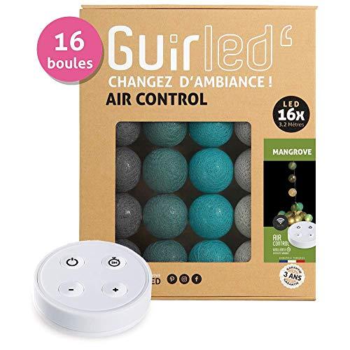 Led-lichtsnoer, katoenen bollen, USB, draadloze afstandsbediening, dual USB-lader, 2 A, inclusief 10 intensiteiten 16 of 24 ballen