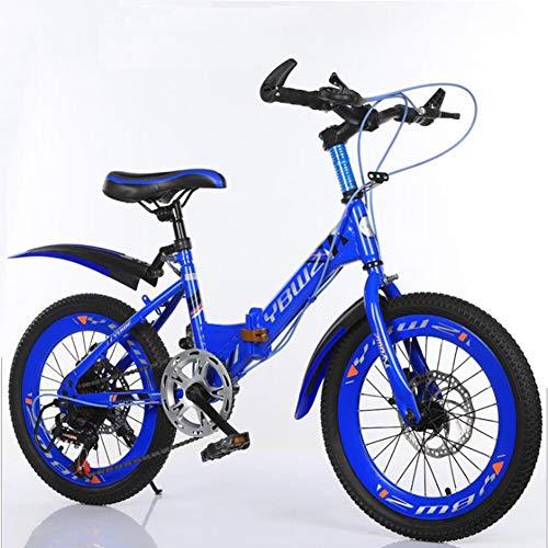 Archer Mountain Bike per Bambini Bicicletta Sportiva per Bambini A velocità Variabile per Freno A Doppio Disco per Ragazzi E Ragazze,Blu,22inch