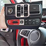 Voswitch JL300 Lower Dash Switch Panel Compatible with Jeep Wrangler JL JLU 2018 - Current and Gladiator 2020+