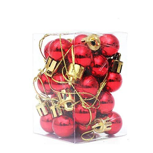 Decdeal 24 Piezas Bolas de Árbol de Navidad Adornos de Bolas de Navidad Brillantes Inastillables para Decoración de Festivales, Navidad