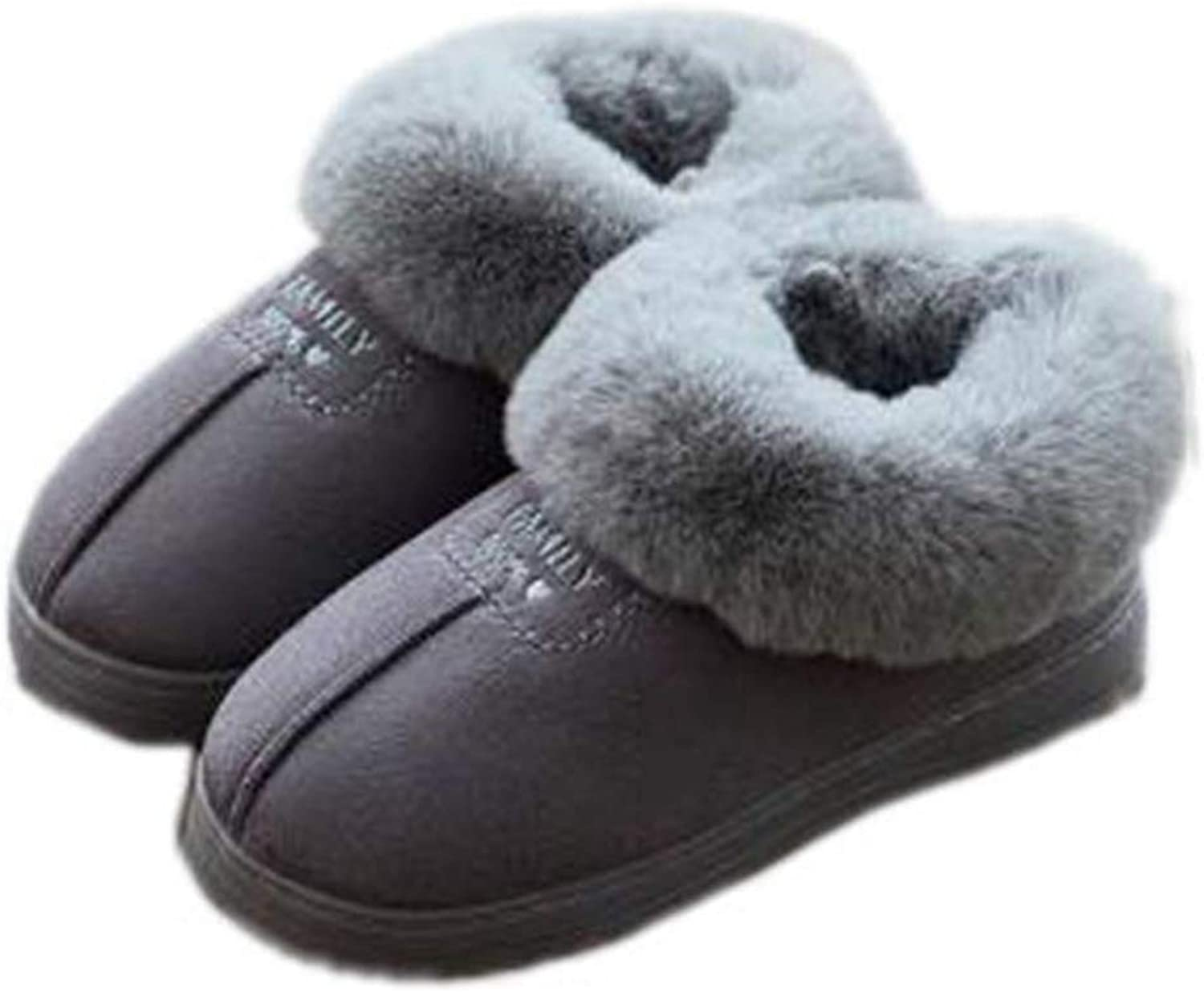 York Zhu Anti Slip Slippers Fur Fluffy Sliders Winter Plush Furry Indoor & Outdoor