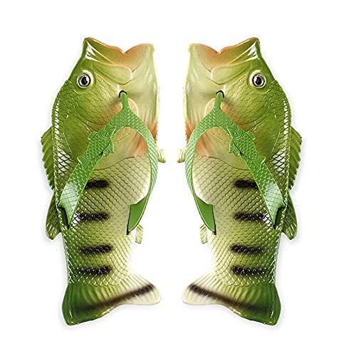 QUNHU Zapatos Flip Flops Zapatos Casuales Unisex En Forma de Peces Sandalias Creativas, Zapatillas, Zapatos de Ducha y Sandalias para Hombres, Mujer y niños para Exteriores al Aire Libre