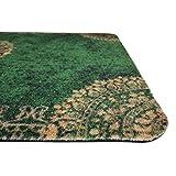 deco-mat Fußmatte Orient (40 x 60 cm, Grün) • rutschfeste und waschbare Fußmatte für außen/innen • saugstarke Schmutzfangmatte für Innen-/Außenbereich in orientalischem Design - 7
