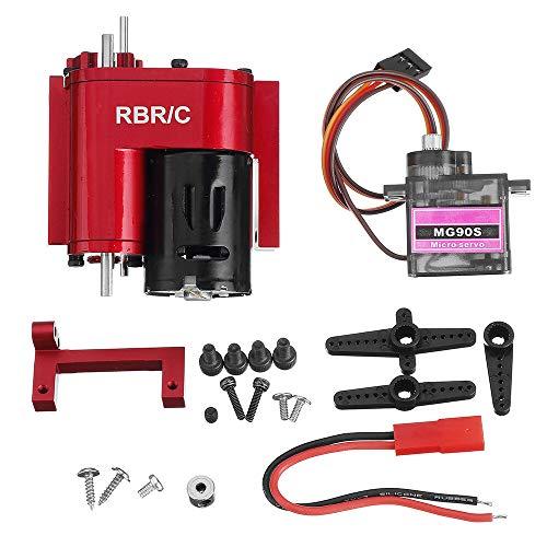 Exanko Caja de Cambios de Cambio de Velocidad de TransmisióN de Metal de 2 Velocidades para WPL C14 C24 B14 B16 B36 MN D90 D91 MN99S RC Coche Piezas de ActualizacióN, Rojo