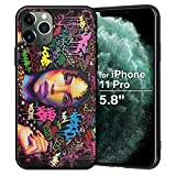 XIX iPhone 11 Pro Case African American Afro Girls Women Slim Fit Shockproof Bumper Cell Phone Accessories Thin Soft Black TPU Protective Apple iPhone 11 Pro Cases (04)