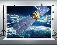 HD10x7ft宇宙背景青い空の背景宇宙船衛星パーティー写真背景壁紙写真ブース小道具BJYYFH178