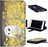 Hairyworm Bird Phone Case Barn Owl With Yellow Flowers