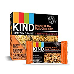 Kind Healthy Grains Granola Bars, Peanut Butter Dark Chocolate, 1.2 oz (Pack of 5)