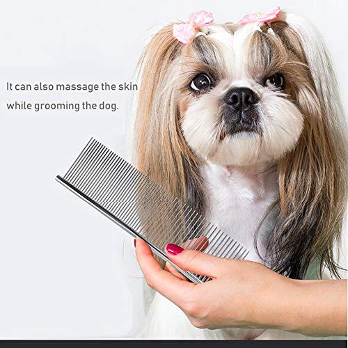 cwsz001 Peine Perro Acero Inoxidable Grooming Peine para Perros Mascotas Peine para...