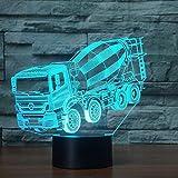 7 colores cambiantes luz nocturna 3D LED licuadora mesa de coche lámpara de escritorio mesita de noche para niños mezclador de sueño iluminación de camiones regalos de Navidad decoración