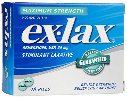 Ex-Lax Maximum Strength Stimulant Laxative Pills, 48 count