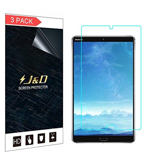 """J&D Compatible para 3 Paquetes Huawei MediaPad M5 8.4"""" Protector de Pantalla, [NO Cobertura Completa] Prima Escudo de Película Transparente HD Protector de Pantalla para Huawei MediaPad M5 8.4 Inch"""