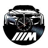 LKCAK Orologio in Vinile BMW - Dischi in Vinile Decorazioni murali Fatte a Mano - Regalo Vintage per Uomini e Donne Innamorati di BMW