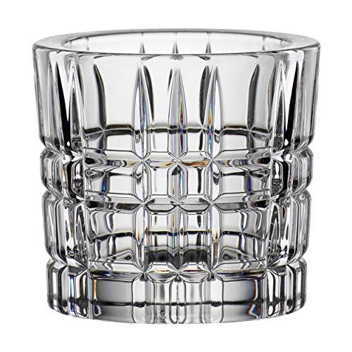 Nachtmann Square Teelichthalter, Teelicht Halter, Votivlicht, Kerzenhalter, Kristallglas, 6.6 cm, 101981