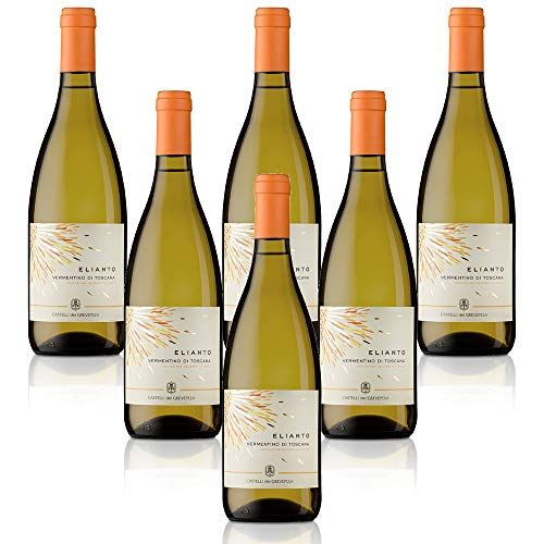 Vino blanco italiano Vino Bianco IGT Toscana Vermentino Elianto Castelli del Grevepesa Castelgreve (6 botellas 75 cl.)