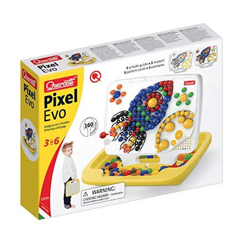 Quercetti Pixel EVO Multicolor Juguete de Habilidad motora - Juguetes de Habilidades motoras (Multicolor, Niño/niña, 3 año(s), 6 año(s), 220 mm, 190 mm)