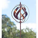 "Evergreen Flag 89"" Sphere Hydro Wind Spinner Weathered Cooper 89 x 18 inches"
