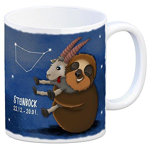 trendaffe - Kaffeebecher mit Faultier Sternzeichen Steinbock Motiv