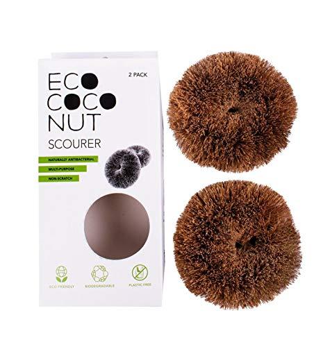 Eco Coconut - Estropajos (2 Unidades, Talla única), Color Natural