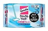 【大容量】クイックルワイパー フロア用掃除道具 立体吸着ウエットシート 32枚