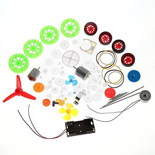 Coche de juguete Accesorios para bricolaje Motores Gusanos Cinturones Bujes Poleas Ruedas Engranajes Surtido Engranajes Kits Conjunto de plástico Variedad de vástago de plástico