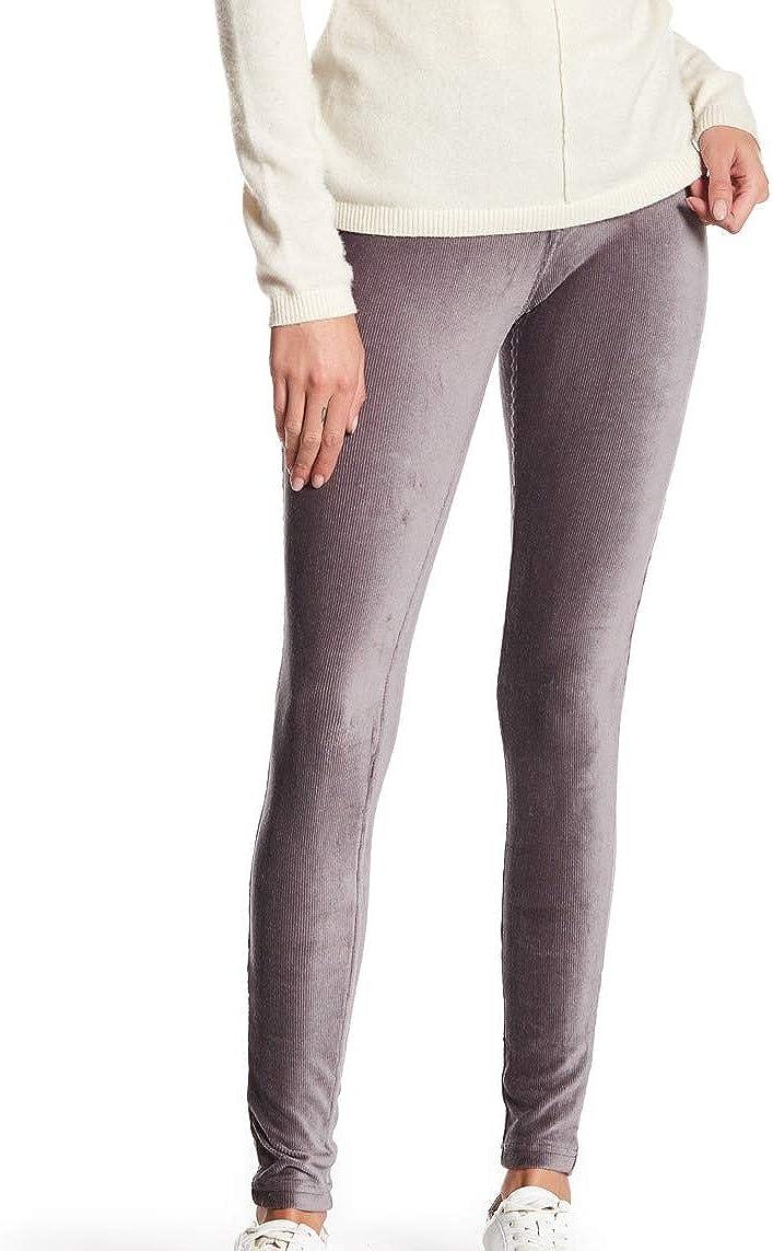 HUE Womens Corduroy High Rise Leggings Gray S