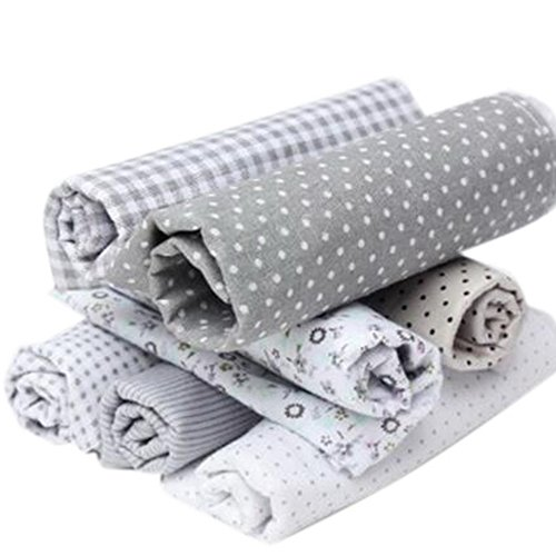 RainBabe Tissu Coton et Lin 7PCS Bricolage DIY Patchwork Artisanat Couture 50cmx50cm