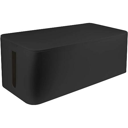 LogiLink KAB0062 organizador de cables Cable box Negro 1 pieza(s) - Organizadores de cables (Cable box, Negro, De plástico, 135 mm, 400 mm, 160 mm)