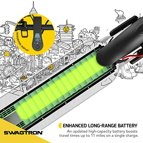 Swagtron SG-5 Swagger 5 Boost Commuter Electric Scooter with Upgraded 300W Motor