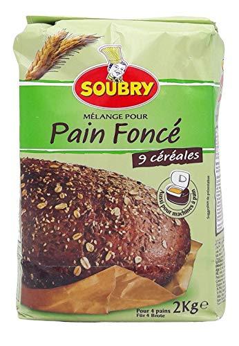 SOUBRY Brotbackmischung Dunkles Brot,4er...