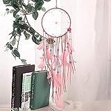 M I A Colgante de concha rosa con flecos atrapasueños artesanías adornos campanillas de viento