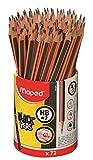 Maped - Crayons Graphite Black'Peps - Crayons à Papier HB - Ergonomique - Triangulaire - Pot de 72 Crayons Papier HB