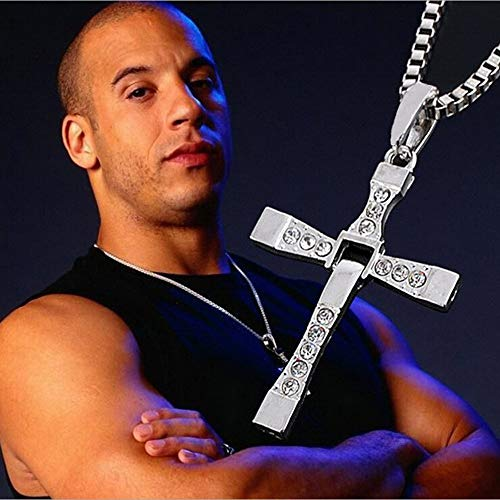 RMYSUM Male Necklaces & Pendants Fashion Movie Jewelry The Fast And The Furious Toretto Men Classic Cross Pendant Necklace