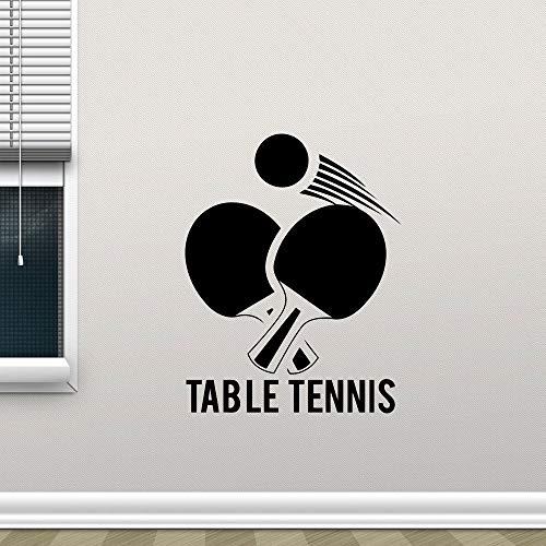 mlpnko Wandtattoo Tischtennis Sport Vinyl Wandaufkleber dekorative Wandbild abnehmbare Tapete 63X81cm